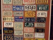 MOTORCYCLE PLATES ---DISPLAY BOARD #3, USA and POSSESSIONS