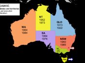 Map Capital Punishment in Australia