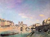 The Seine and Notre-Dame in Paris, 1864, Musée d'Orsay, Paris.