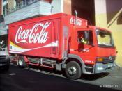 Coca-Cola Amatil delivery truck in Melbourne Australia