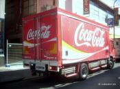 Coca-Cola Amatil truck in Melbourne Australia