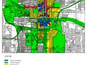 Zoning scheme of the center of Tallahassee, USA.
