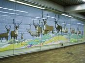 «Barren Ground Caribou» by Joyce Wieland, 1978, in Spadina subway station (TTC), taken with my camera