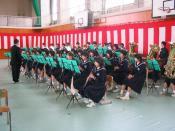 Junior High School Students band at Demachi Jr. High, Tonami City, Toyama, JAPAN 富山県砺波市立出町中学校.