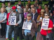 Rally against the treatment of Julian Assange by the Australian Government, Parliament House Lawns, Hobart, Tasmania, Australia