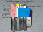 A third generation Image Intensifier tube with overlaid detail