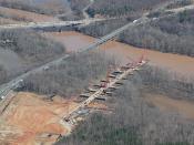 Aerial Photo of Temporary Work Bridge