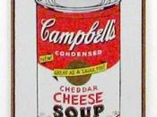 Cheddar Cheese canvas from Campbell's Soup Cans by Andy Warhol, 1962. Displayed in Museum of Modern Art in New York.