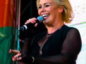 British singer Kim Wilde performing at FFH Wolkenkratzer Festival (Frankfurt, Germany)