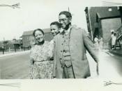 James, Rowena, and Alexander Lark, Chicago, 1947