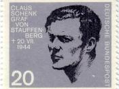 Deutsch: Briefmarke der Deutschen Bundespost mit Graf Stauffenberg zum 20. Jahrestag des Attentats auf Hitler am 20. Juli 1944