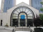 Le Centre Thermal des Dômes, facade du boulevard des Etats-Unis, Vichy(France).