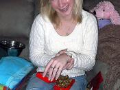 Amanda and her new bracelet.