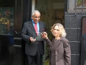 Rangel Accepts Award from ASC