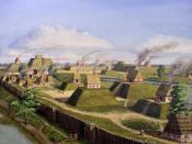 English: The Kincaid Site in Massac County, Illinois. Oil on canvas painting.