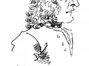 Caricature of Antonio Vivaldi by Pier Leone Ghezzi in 1723. Text translates to