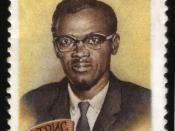 English: USSR stamp, P. Lumumba, 1961, 2 k. Русский: Марка СССР, П. Лумумба, 1961, 2 коп.