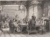 English: Dinner party at a Mandarin's house.