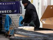 Logistics personnel supporting engineers in Afghanistan one pallet at a time