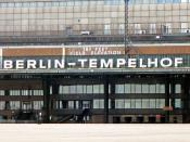 «Berlin-Tempelhof .»  dispatch-hall-façade of Hitler's Airfield-Building