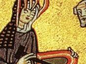 Hildegard von Bingen empfängt eine göttliche Inspiration. Image:Hildegard.jpg