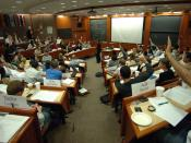 English: Students in a Harvard Business School classroom
