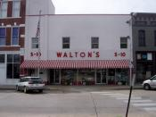 Sam Walton's original Walton's Five and Dime, now the Wal-Mart Visitor's Center, Bentonville. Photo taken by Bobak Ha'Eri. September 2, 2006. Please observe license and properly cite in use outside Wikipedia.
