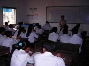 English: Class in Samdach Euv High School, Siem Reap, Cambodia