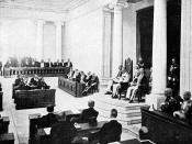 Nederlands: Repronegatief. Opening van de Volksraad door gouverneur-generaal Van Limburg Stirum op 18 mei 1918 op Java.