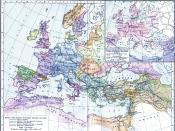 The map of Europe after the death of Robert Guiscard in 1085.