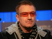 DAVOS/SWITZERLAND, 24JAN08 - Bono, Musician, DATA (DEBT, AIDS, TRADE, AFRICA), United Kingdom captured during the session 'A Unified Earth Theory: Combining Solutions to Extreme Poverty and the Climate Crisis' at the Annual Meeting 2008 of the World Econo