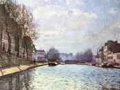View of the Canal Saint-Martin at Paris (Alfred Sisley - Musée d'Orsay, 1870)