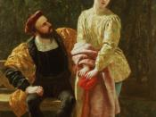 Frederick Richard Pickersgill painting of Orsino and Viola, mid 1800s