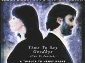 The cover of the Andrea Bocelli and Sarah Brightman single Time to say Goodbye.