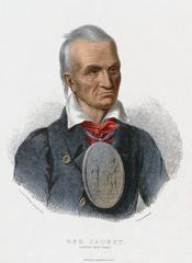 English: Red Jacket. Seneca war chief Česky: Červený kabát, jeden z představitelů kmene Seneků