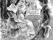 English: Miss Havisham, Pip, and Estella, in art from the Imperial Edition of Charles Dickens's Great Expectations. Art by H. M. Brock.