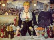 Bottles of Bass alongside the champagne in Edouard Manet's 1882 Bar at the Folies-Bergère