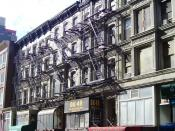 47-55 West 28th Street between Broadway and Sixth Avenue in the NoMad neighborhood of Manhattan, New York City are five seperate buildings with similar facades, all built c.1920. (Source: NYC GIS map)