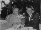 Sinatra, pictured here with Eleanor Roosevelt in 1960, was an ardent supporter of the Democratic Party until 1968.