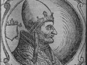 Pope Adrian IV, who negotiated with Manuel against the Norman King William I of Sicily