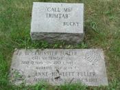 English: Grave of Buckminster Fuller