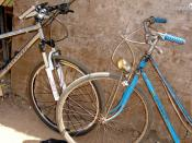 Contrast of bike types. Both bicycles function as expected.