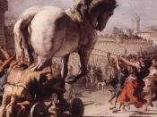 Detail from The Procession of the Trojan Horse in Troy by Domenico Tiepolo (1773), inspired by Virgil's Aeneid