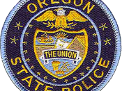 English: Image is similar, if not identical, to the Oregon State Police patch. Made with Photoshop.
