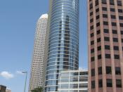 English: 1500 Louisiana Street building, built for Enron, but never occupied by the corporation; later purchased by Chevron.