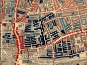 Part of Charles Booth's poverty map showing the Old Nichol slum, including Bethnal Green Road