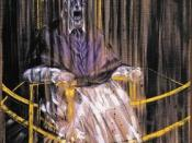 Study after Velázquez's Portrait of Pope Innocent X by Francis Bacon, a détournement of the above