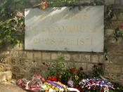 English: The Paris Commune Memorial in Paris, France in Père Lachaise Cemetery.