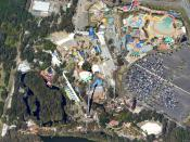 English: An aerial image of Dreamworld and WhiteWater World on the Gold Coast, Australia.