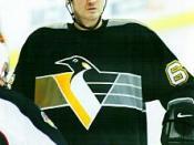 English: Ice hockey player Mario Lemieux in 2001. Français : Le joueur canadien de hockey sur glace Mario Lemieux en 2001